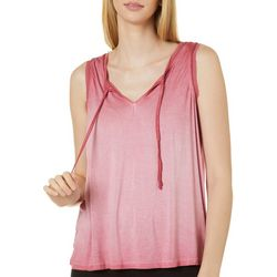 CG Sport Womens Oil Wash Mesh Trim V-Neck Tank Top