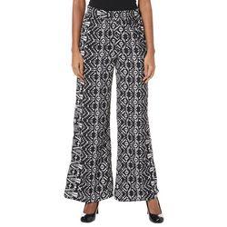 Crimson In Grace Womens Geometric Print Wide Leg Pants