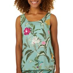 Vero Moda Womens Simply Easy Tropical Floral Sleeveless Top