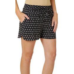 Vero Moda Womens Geometric Diamond Drawsting Soft Shorts
