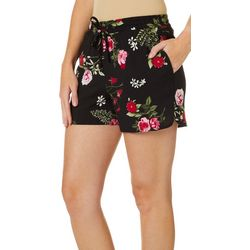 Vero Moda Womens Floral Print Drawsting Soft Shorts