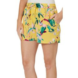 Vero Moda Womens Tropical Floral Drawsting Soft Shorts