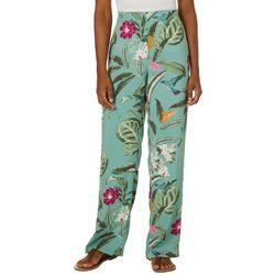 Vero Moda Womens Tropical Floral Palazzo Pants