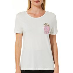 Vero Moda Womens Embellished Popcorn Short Sleeve Top
