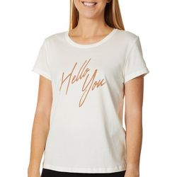 Vero Moda Womens Hello You Graphic Short Sleeve Top