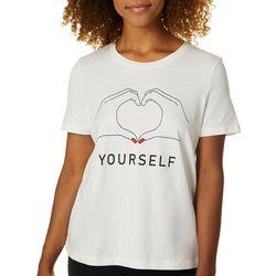 Vero Moda Womens Love Yourself Screen Print T-Shirt