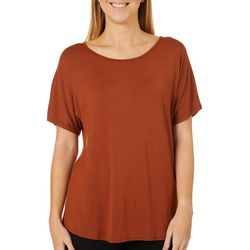 Coco's Clozet Womens Solid Knit Short Sleeve Top