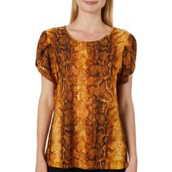 Coco's Clozet Womens Snake Print Envelope Sleeve Top
