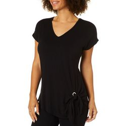 Coco's Clozet Womens Solid Side Tie Top