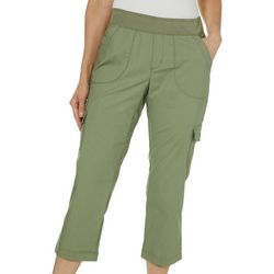 Lee Womens Solid Cargo Twill Capris