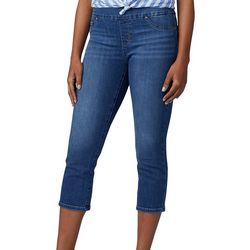 Lee Womens Sculpting Pull On Denim Capris