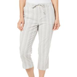Lee Womens Striped Utility Pull On Capris