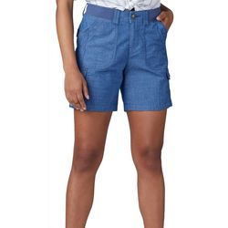 Lee Womens Flex-To-Go Solid Relaxed Fit Cargo Shorts