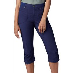 Lee Womens Solid Flex-To-Go Zipper Pocket Skimmer Capris