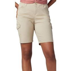 Lee Womens Knit Waist Cargo Bermuda Shorts