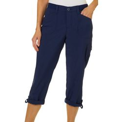 Lee Womens Knit Waist Cargo Capris