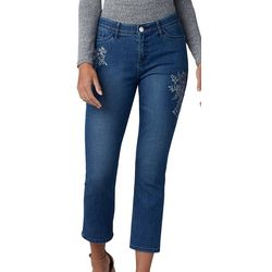 Lee Womens Flex Motion Embroidered Denim Capris