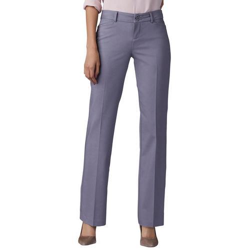 f3fda23d1e2db Lee Womens Secretly Shapes Straight Leg Solid Pants