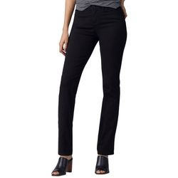 Lee Womens Solid Flex Motion Straight Leg Jeans