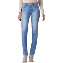 Lee Womens Faded Flex Motion Straight Leg Jeans