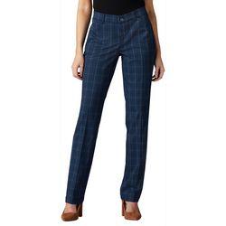 Lee Womens Plaid Flex Motion Straight Leg Pants