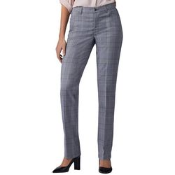 Lee Womens Plaid Flex Motion Straight Leg Pants
