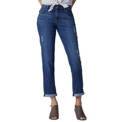 Lee Womens Relaxed Girlfriend Distressed Jeans