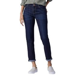 Lee Womens Relaxed Girlfriend Whiskered Jeans