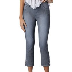 Lee Womens Jayla Pinstripe Denim Capris