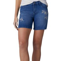 Lee Womens Cora Embroidered Denim Shorts