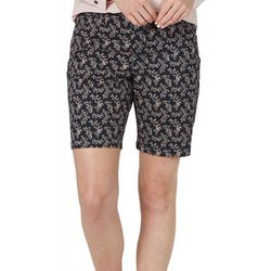 Lee Womens Floral Regular Fit Chino Bermuda Shorts