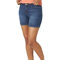 Lee Womens Solid Denim Shorts