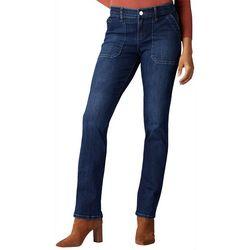 Lee Womens Flex Motion Solid Boot Cut Jeans