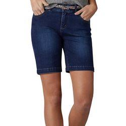 Lee Womens Belted Bradbury Denim Shorts
