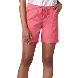 1fc4871543 Lee Womens Flex-To-Go Solid Relaxed Fit Pull On Shorts