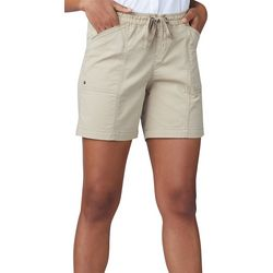 Lee Womens Flex-To-Go Solid Relaxed Fit Pull On Shorts