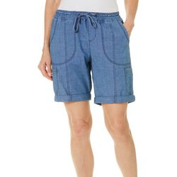 Lee Womens Flex-To-Go Roll Cuff Relaxed Fit Pull On Shorts