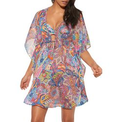 Bleu Rod Beattie Womens Groovy Baby Ruffle Cover-Up