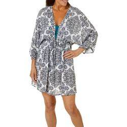 Wearabouts Womens Postitano Tiles Tunic Swim Cover-Up