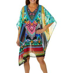 Meetu Magic Womens  Embellished Tunic Swim Cover-Up