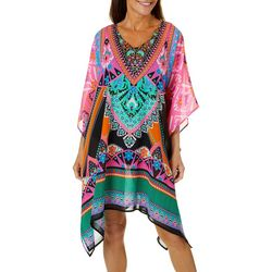 Meetu Magic Womens Colorful Embellished Tunic Swim