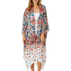 Anne Cole Signature Womens Sunset Floral Maxi Robe Cover-Up