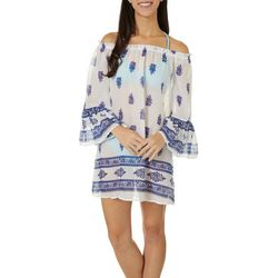 Beach Lunch Womens Jaipur Off The Shoulder Swim Cover-Up