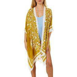 Angie Juniors Paisley Print Kimono Swim Cover-Up