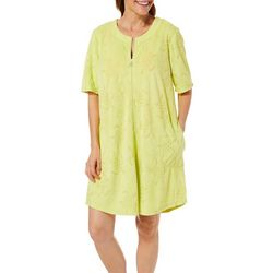 Paradise Bay Womens Turtle French Terry Zip Cover-Up