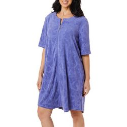 Paradise Bay Womens Starfish French Terry Zip Cover-Up