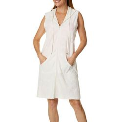 ab1b9d1828 Paradise Bay Womens Sand Dollar Zipper Sleeveless Cover-Up