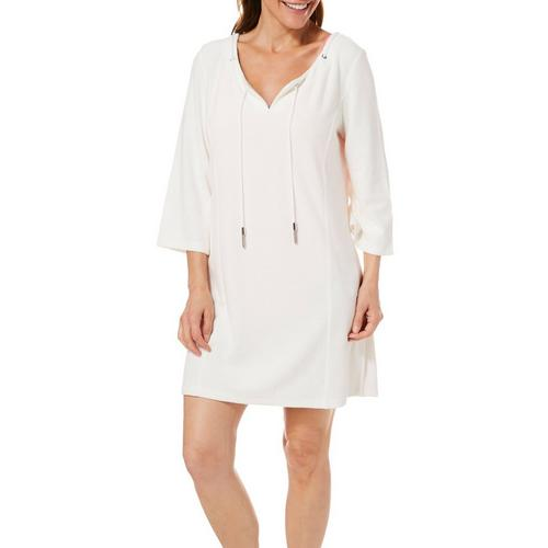 524dc1ae0f Paradise Bay Womens Solid Split Neck Terry Dress Cover-Up | Bealls Florida