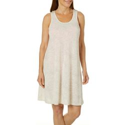 Paradise Bay Womens Palm Dress Cutout Back Swim Cover-Up