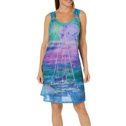 Leoma Lovegrove Womens Super Moon Ring Dress Cover-Up